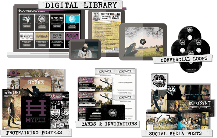 Martial Arts School Media and Marketing Kits